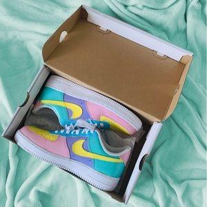Custom multi color Nike af1
